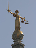 Scales of Justice  Central Criminal Court  Old Bailey  London  England  United Kingdom  Europe