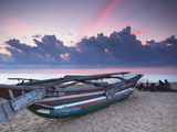 Oruwa (Outrigger Canoe) on Beach at Sunset  Negombo  North Western Province  Sri Lanka  Asia