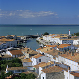 View over Town and Harbour  St Martin  Ile de Re  Poitou-Charentes  France  Europe