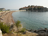 The Small Islet of Sveti Stefan  Now an Exclusive Aman Hotel Resort  Budva  Montenegro  Europe