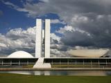 Congresso Nacional (Nat'l Congress) by Oscar Niemeyer  Brasilia  UNESCO World Heritage Site  Brazil