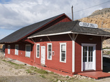 Historic Gold Hill Train Station  Outside Virginia City  Nevada  USA  North America