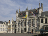 The Stadhuis (Town Hall) in the Burg Square  Brugge  UNESCO World Heritage Site  Belgium  Europe