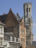The Belfry by the Market Place  Brugge  UNESCO World Heritage Site  Belgium  Europe