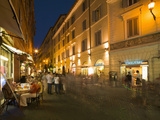 People Dining at Outside Restaurant  Rome  Lazio  Italy  Europe