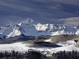 Mount Wilson in the Winter  Uncompahgre National Forest  Colorado  USA  North America