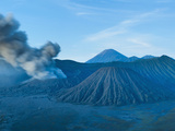 Mount Bromo Volcano Erupting before Sunrise  East Java  Indonesia  Southeast Asia  Asia