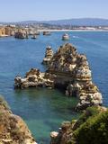 Cliffs Near Praia Dona Ana  Lagos  Algarve  Portugal  Europe