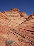 The Mini Wave Formation  Coyote Buttes Wilderness  Vermillion Cliffs Nat'l Monument  Arizona  USA