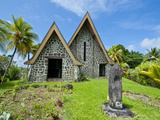 Stone Church on Kvato Island  Papua New Guinea  Pacific
