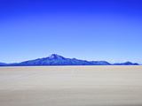 Salar de Uyuni Salt Flats and the Andes Mountains in the Distance  Bolivia  South America