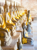 Buddhas at Wat Si Saket  the Oldest Temple in Vientiane  Laos  Indochina  Southeast Asia  Asia