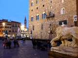 Piazza della Signoria at Dusk  Florence  UNESCO World Heritage Site  Tuscany  Italy  Europe