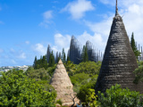 Tjibaou Cultural Center in Noumea  New Caledonia  Melanesia  South Pacific  Pacific