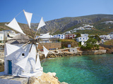 Aigiali Town and Port  Amorgos  Cyclades  Aegean  Greek Islands  Greece  Europe