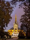 Albert Memorial and Royal Albert Hall at Dusk  Hyde Park  London  England