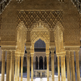 Court of the Lions  Alhambra Palace  UNESCO World Heritage Site  Granada  Andalucia  Spain  Europe