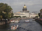 Dome of St Isaac's Cathedral and Canal  St Petersburg  Russia  Europe