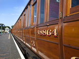 Vintage Lner Rolling Stock on Poppy Line  North Norfolk Railway  at Sheringham  Norfolk  England