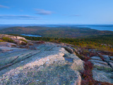 View from Cadillac Mountain  Acadia National Park  Mount Desert Island  Maine  New England  USA