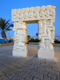Sculpture of Fall of Jericho  Isaac&#39;s Sacrifice  Jacob&#39;s Dream  Hapisgah Gardens  Tel Aviv  Israel