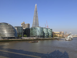South Bank with City Hall  Shard London Bridge and More London Buildings  London  England  UK