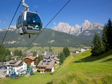 Cable Car  Pozza di Fassa  Fassa Valley  Trento Province  Trentino-Alto Adige/South Tyrol  Italy