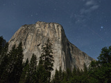 El Capitan and Night Starry Sky  Yosemite Nat'l Park  UNESCO World Heritage Site  California  USA