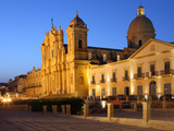 Duomo at Dusk  Noto  Sicily  Italy  Europe