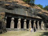 Cave Temple on Elephanta Island  UNESCO World Heritage Site  Mumbai (Bombay)  Maharashtra  India