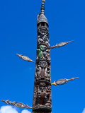 Traditional Wood Carving in Noumea  New Caledonia  Melanesia  South Pacific  Pacific