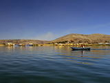 Rowing Boat  Islas Flotantes  Floating Islands  Lake Titicaca  Flotantes  Peru  South America