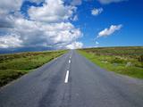 Road across Dartmoor  Devon  England  United Kingdom  Europe