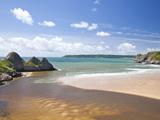 Three Cliffs Bay  Gower  Wales  United Kingdom  Europe