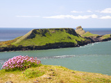 Worms Head  Rhossili Bay  Gower Peninsula  Wales  United Kingdom  Europe