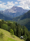 View of Mountains  La Plie Pieve  Belluno Province  Dolomites  Italy  Europe