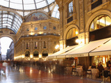 Restaurant  Galleria Vittorio Emanuele  Milan  Lombardy  Italy  Europe