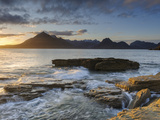 Sunset at Elgol Beach on Loch Scavaig  Cuillin Mountains  Isle of Skye  Scotland