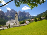 Church  Colfosco  Badia Valley  Bolzano Province  Trentino-Alto Adige  Italy  Europe