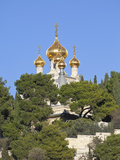 The Russian Church of Mary Magdalene on the Mount of Olives  Jerusalem  Israel  Middle East