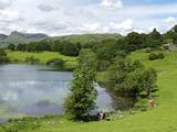 Loughrigg Tarn  Lake District National Park  Cumbria  England  United Kingdom  Europe