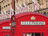 Red Telephone Boxes Opposite Harrod's  Knightsbridge  London  England  United Kingdom  Europe