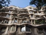 Mila House (Or La Pedrera) by Antoni Gaudi  UNESCO World Heritage Site  Barcelona  Spain