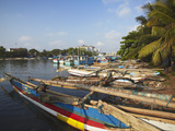 Fishing Boats in Negombo Lagoon  Negombo  Western Province  Sri Lanka  Asia