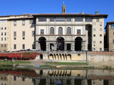 The Uffizi Gallery Reflected in Arno River  Florence  UNESCO World Heritage Site  Tuscany  Italy
