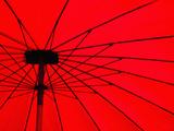 Red Umbrella Close Up  Vientiane  Laos  Indochina  Southeast Asia  Asia