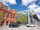 St Pancras International Station Entrance on Pancras Road  London  England  United Kingdom  Europe