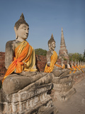 Old Buddha Statue in Wat Yai Chaimongkol Temple  Ayutthaya  UNESCO World Heritage Site  Thailand