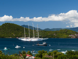 Star Clipper Sailing Cruse Ship  Le Bourg  Iles Des Saintes  Terre de Haut  French Caribbean