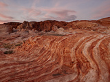 Orange and White Sandstone Layers at Sunrise  Valley of Fire State Park  Nevada  USA